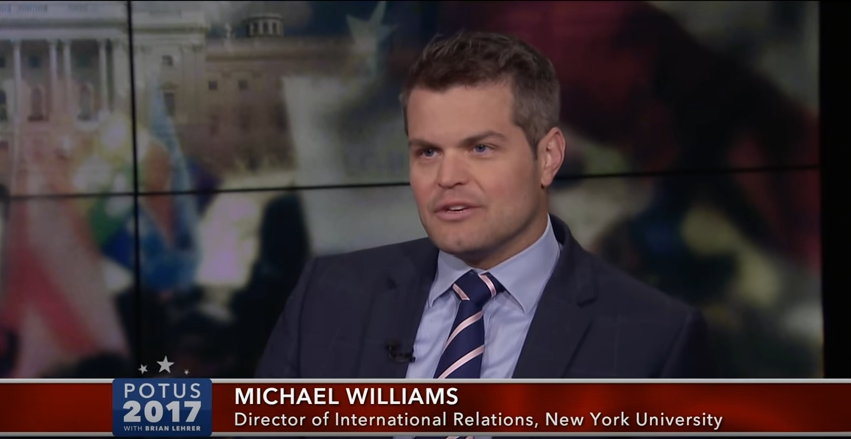 "Program Director Dr. Michael John Williams on CUNY TV: ""POTUS 2017: Leader of the Free World?"""