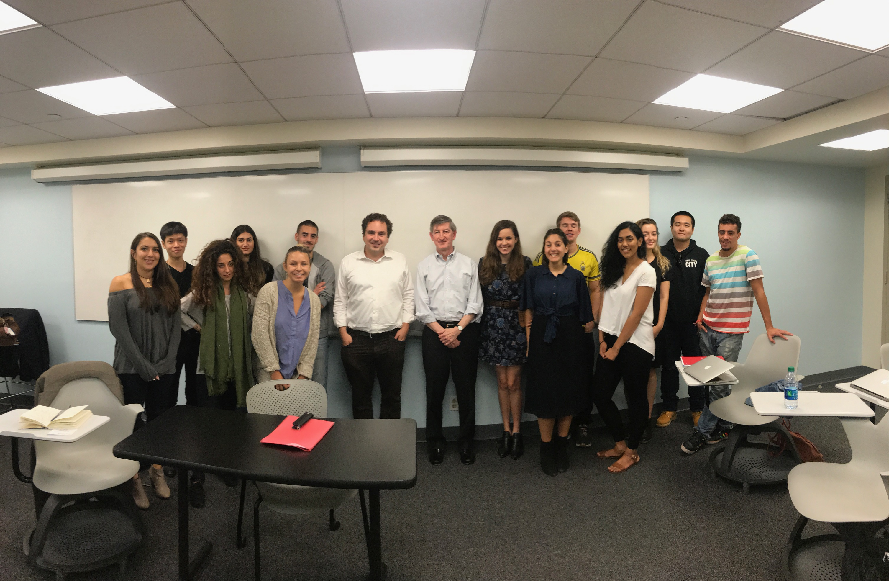 Former US Ambassador to Tunisia, Jakes Walles, Speaks to Professor Benaim's class